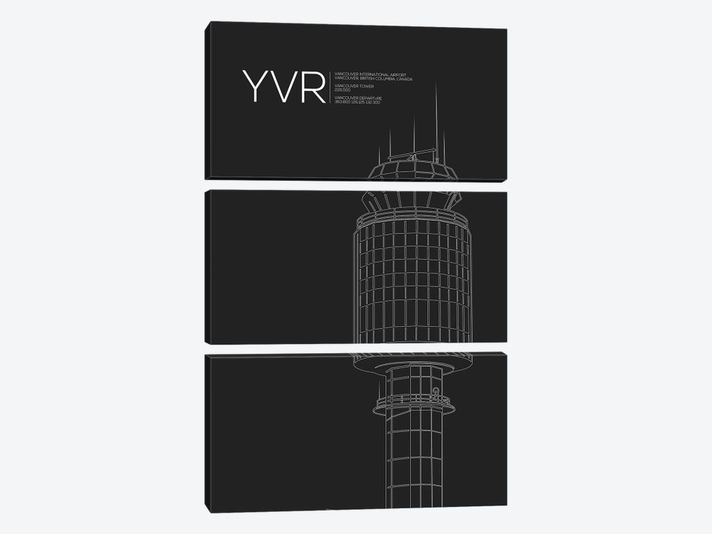 YVR Tower, Vancouver International Airport 3-piece Canvas Artwork