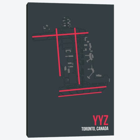YYZ Diagram, Toronto Canvas Print #OET196} by 08 Left Canvas Print