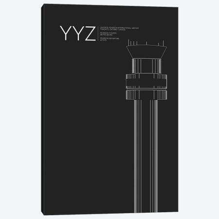 YYZ Tower, Toronto International Airport Canvas Print #OET197} by 08 Left Canvas Print