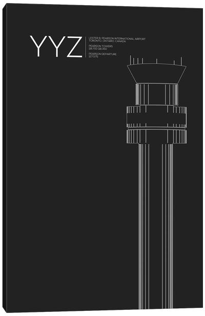 YYZ Tower, Toronto International Airport Canvas Art Print