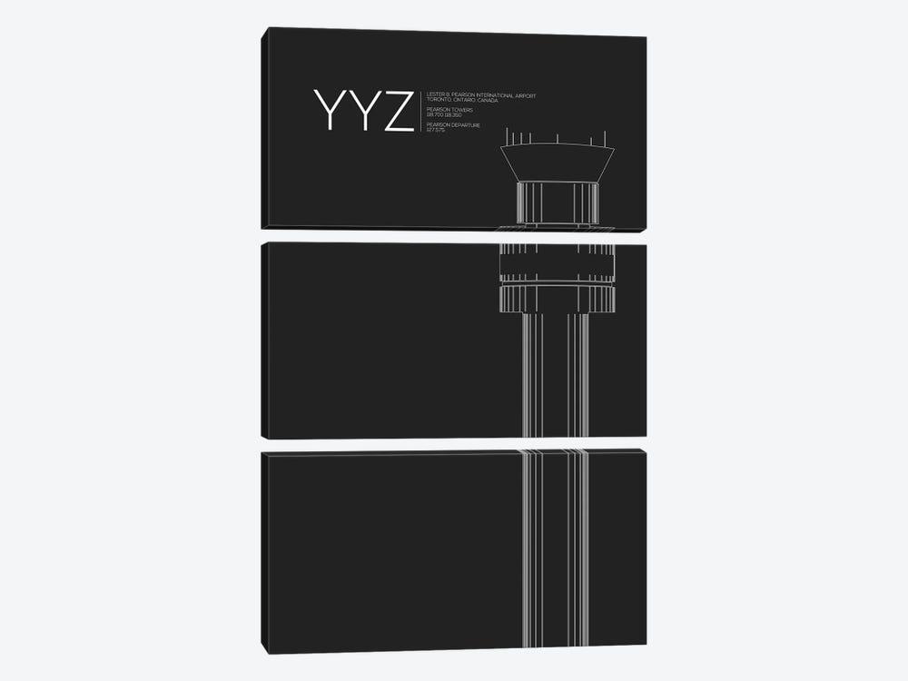 YYZ Tower, Toronto International Airport by 08 Left 3-piece Canvas Art