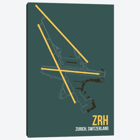 ZRH Diagram, Zurich Canvas Print #OET198} by 08 Left Canvas Art