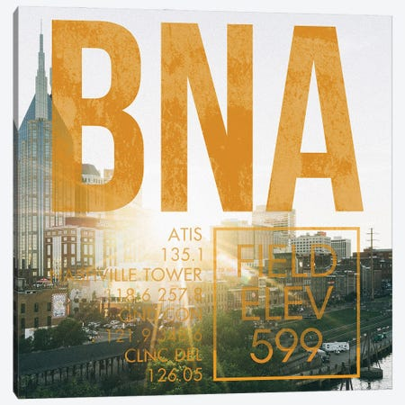 BNA Live Canvas Print #OET215} by 08 Left Canvas Wall Art