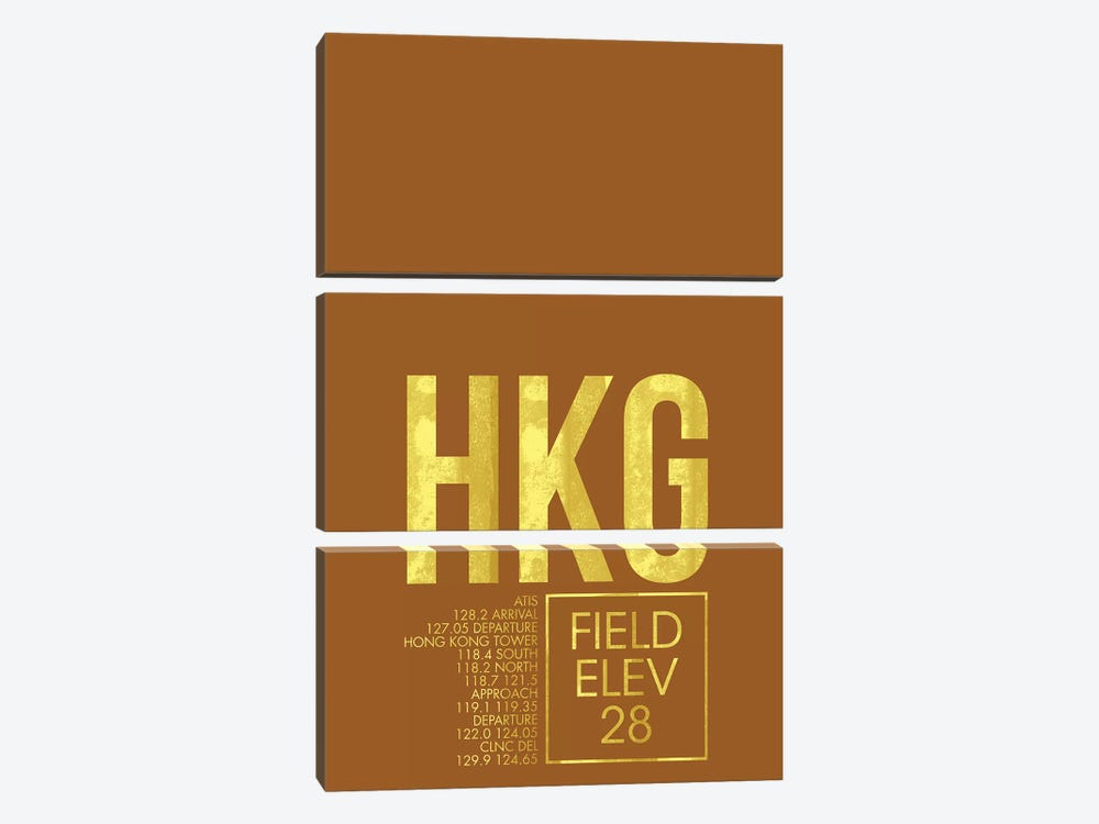 Hong Kong by 08 Left 3-piece Canvas Print