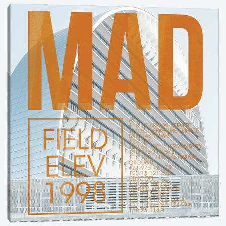 MAD Live Canvas Print #OET257} by 08 Left Canvas Wall Art