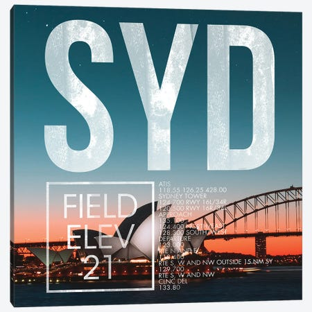 SYD Live Canvas Print #OET285} by 08 Left Canvas Print