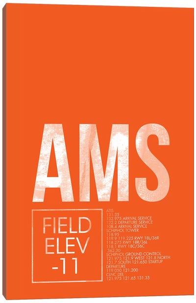 Air Traffic Control Series: Amsterdam Canvas Print #OET2
