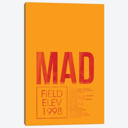 Madrid (Adolfo Suárez Madrid–Barajas) Canvas Print #OET30} by 08 Left Art Print