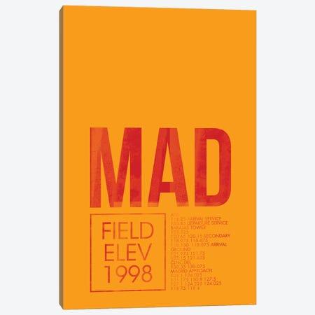 Madrid (Adolfo Suárez Madrid–Barajas) Canvas Print #OET30} by 08 Left Art Print