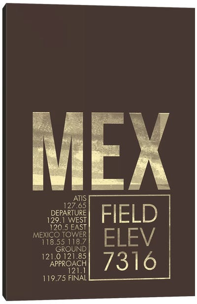 Mexico City (Benito Juarez) Canvas Art Print