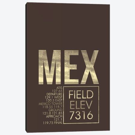 Mexico City (Benito Juarez) Canvas Print #OET33} by 08 Left Canvas Print