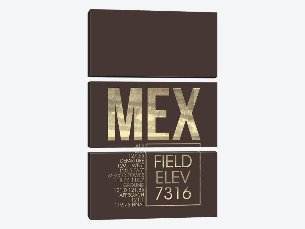 Mexico City (Benito Juarez) by 08 Left 3-piece Canvas Art