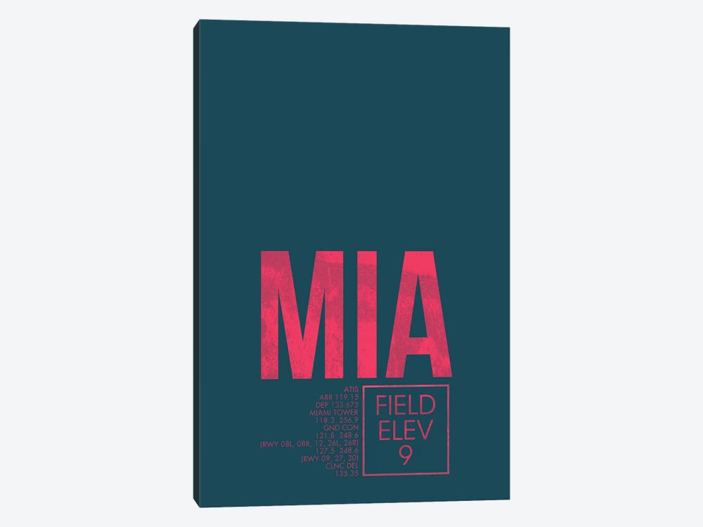 Miami by 08 Left 1-piece Canvas Art Print