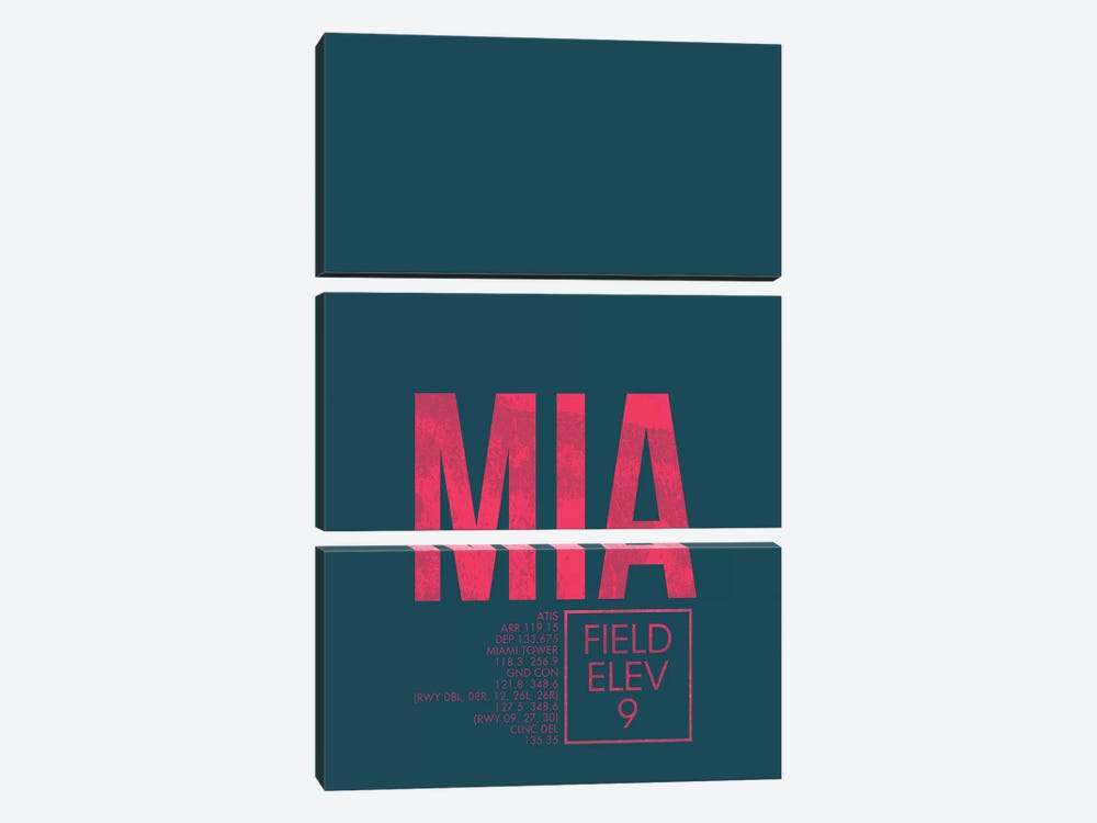 Miami by 08 Left 3-piece Canvas Art Print