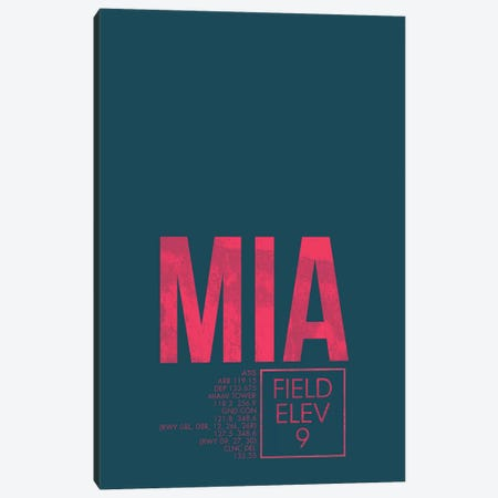 Miami Canvas Print #OET34} by 08 Left Canvas Art