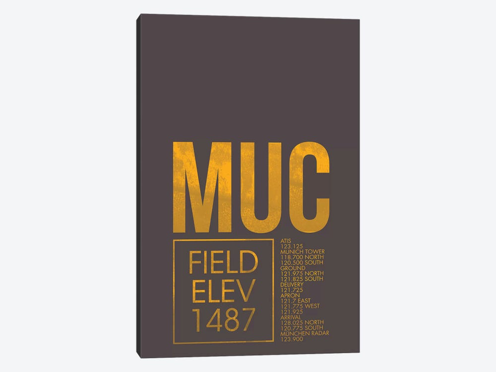 Munich by 08 Left 1-piece Canvas Print