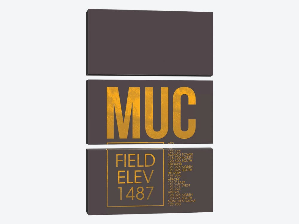 Munich by 08 Left 3-piece Canvas Print