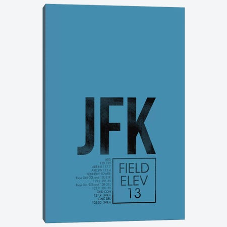 New York (JFK) Canvas Print #OET39} by 08 Left Canvas Print
