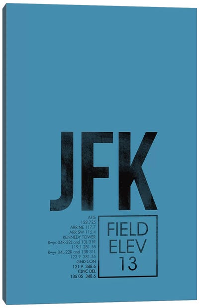 New York (JFK) Canvas Art Print