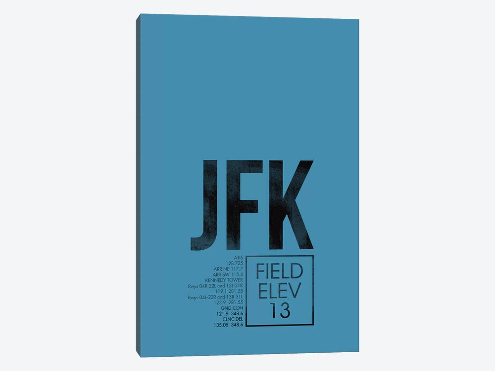 New York (JFK) 1-piece Canvas Artwork