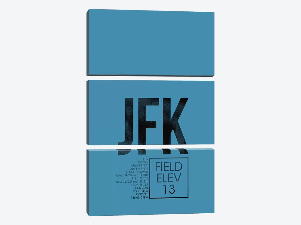 New York (JFK) by 08 Left 3-piece Canvas Art