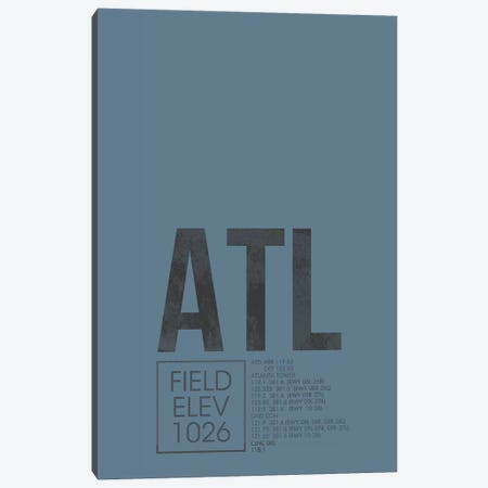 Atlanta (Hartsfield-Jackson) Canvas Print #OET3} by 08 Left Canvas Print
