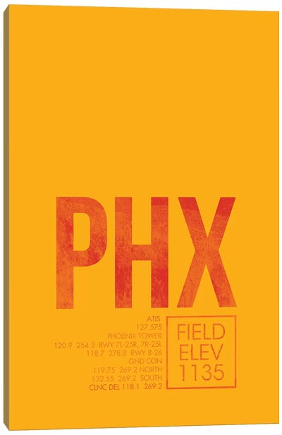 Phoenix Sky Harbor Canvas Art Print