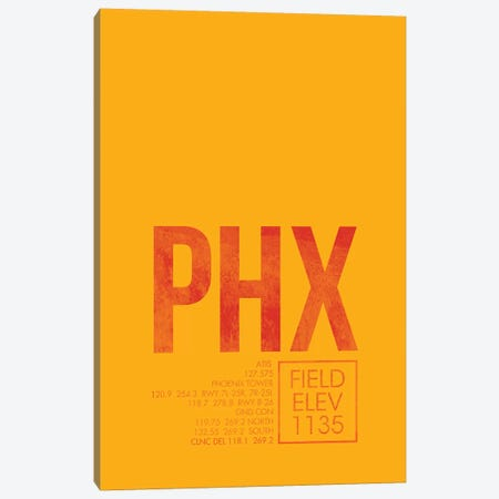 Phoenix Sky Harbor Canvas Print #OET44} by 08 Left Canvas Print