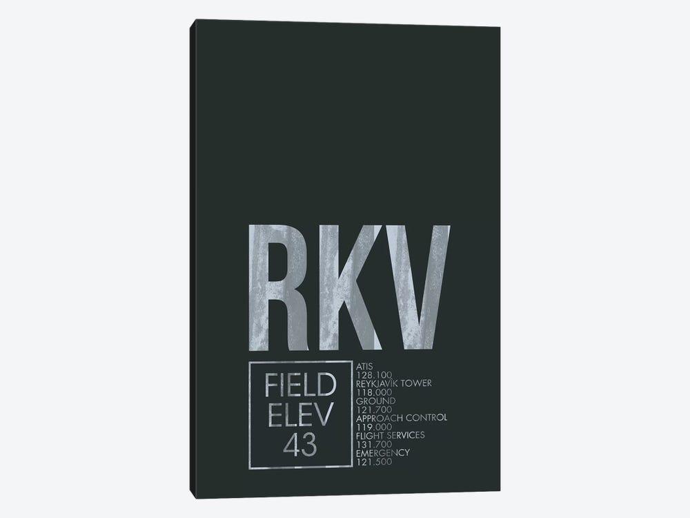 Reykjavik by 08 Left 1-piece Canvas Art Print