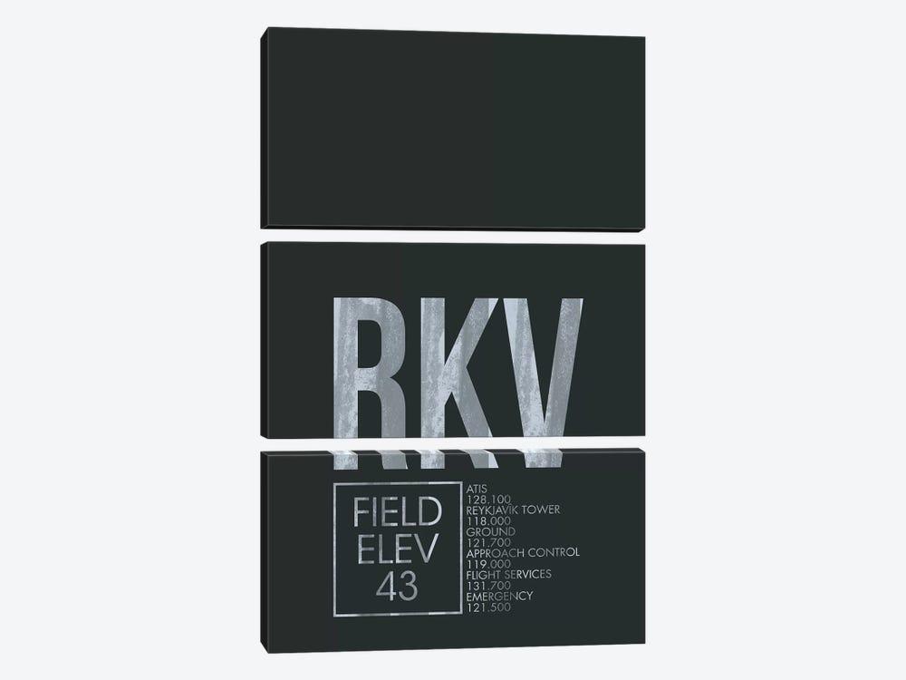 Reykjavik by 08 Left 3-piece Canvas Print