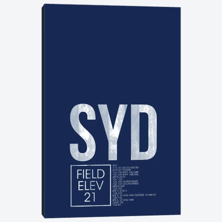 Sydney (Kingsford Smith) Canvas Print #OET56} by 08 Left Canvas Artwork