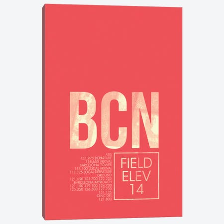 Barcelona-El Prat Canvas Print #OET5} by 08 Left Canvas Wall Art