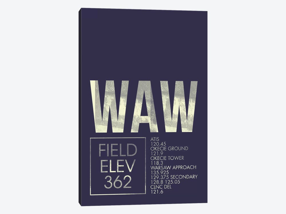 Warsaw Chopin by 08 Left 1-piece Canvas Print