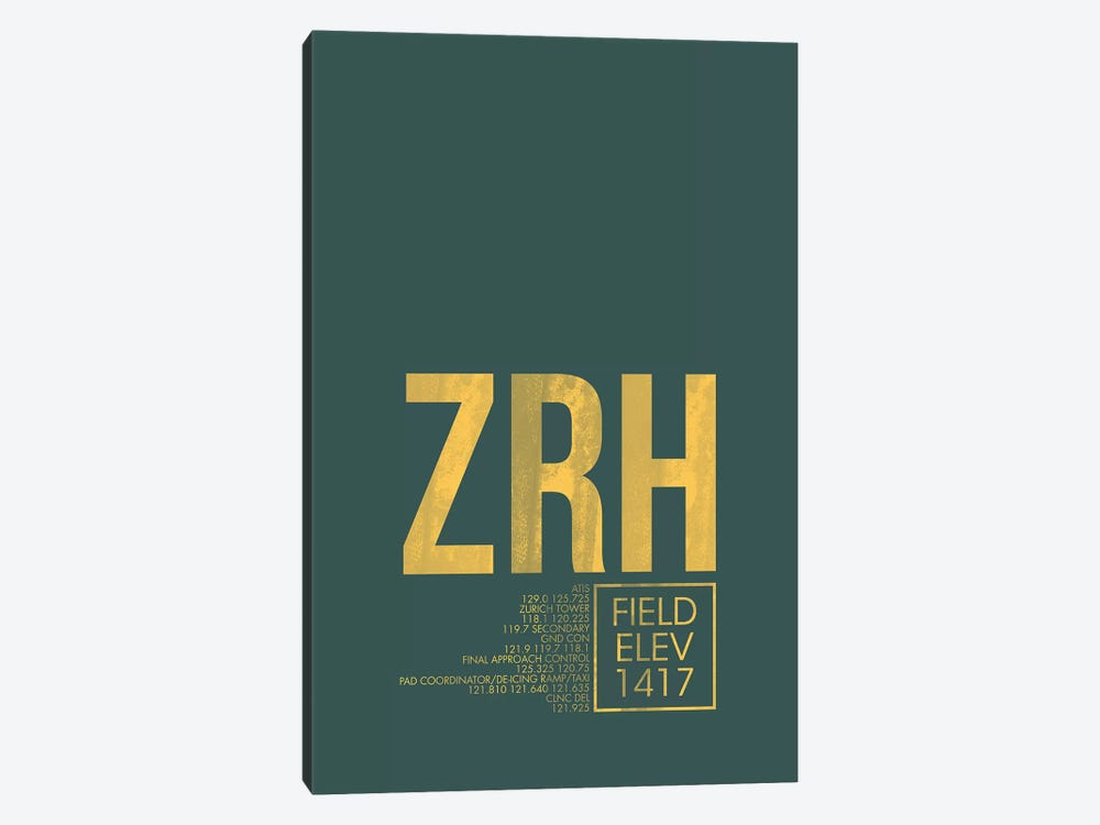 Zurich by 08 Left 1-piece Canvas Print