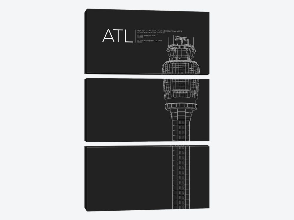 Atlanta (Hartsfield-Jackson) by 08 Left 3-piece Canvas Art