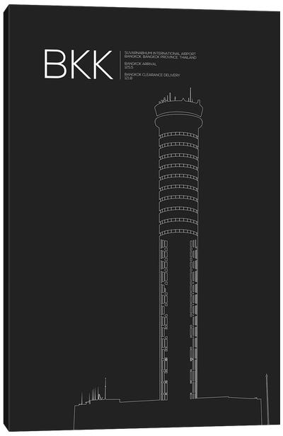 Air Traffic Control Towers Series: Bangkok (Suvarnabhumi) Canvas Print #OET67