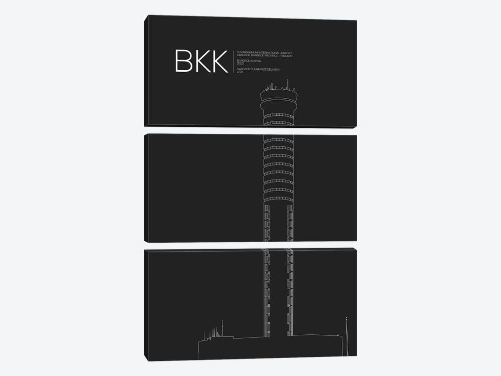 Bangkok (Suvarnabhumi) by 08 Left 3-piece Art Print