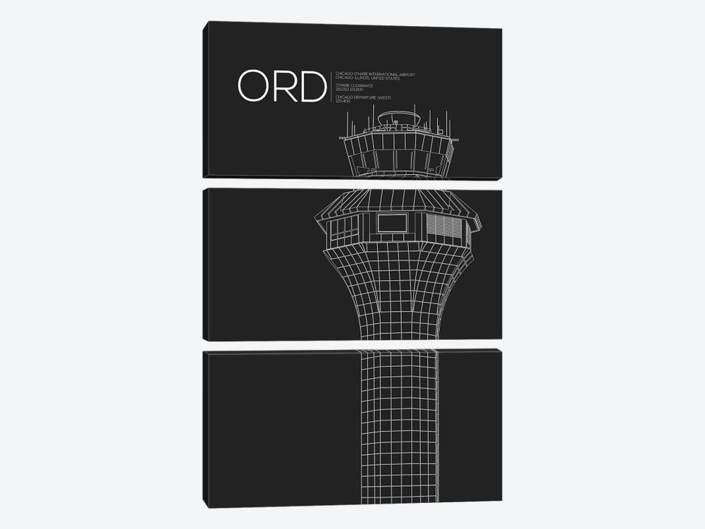 Chicago (O'Hare) by 08 Left 3-piece Canvas Wall Art