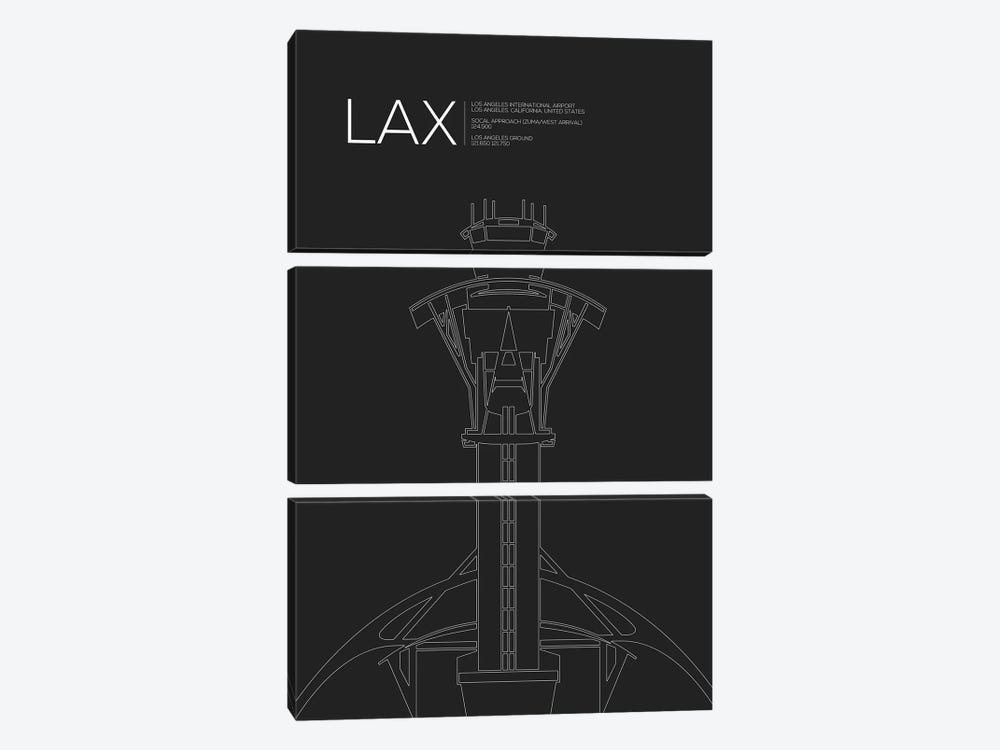 Los Angeles by 08 Left 3-piece Canvas Art Print