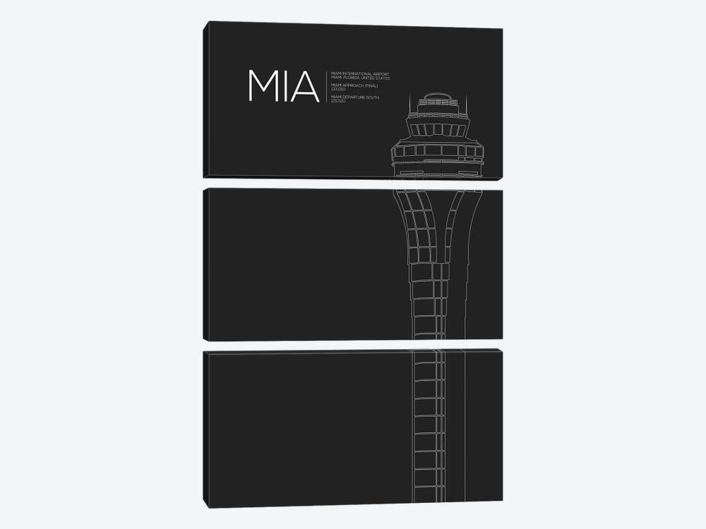 Miami by 08 Left 3-piece Canvas Art