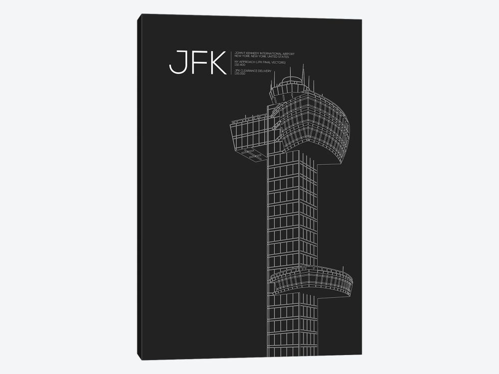 New York (JFK) by 08 Left 1-piece Canvas Print