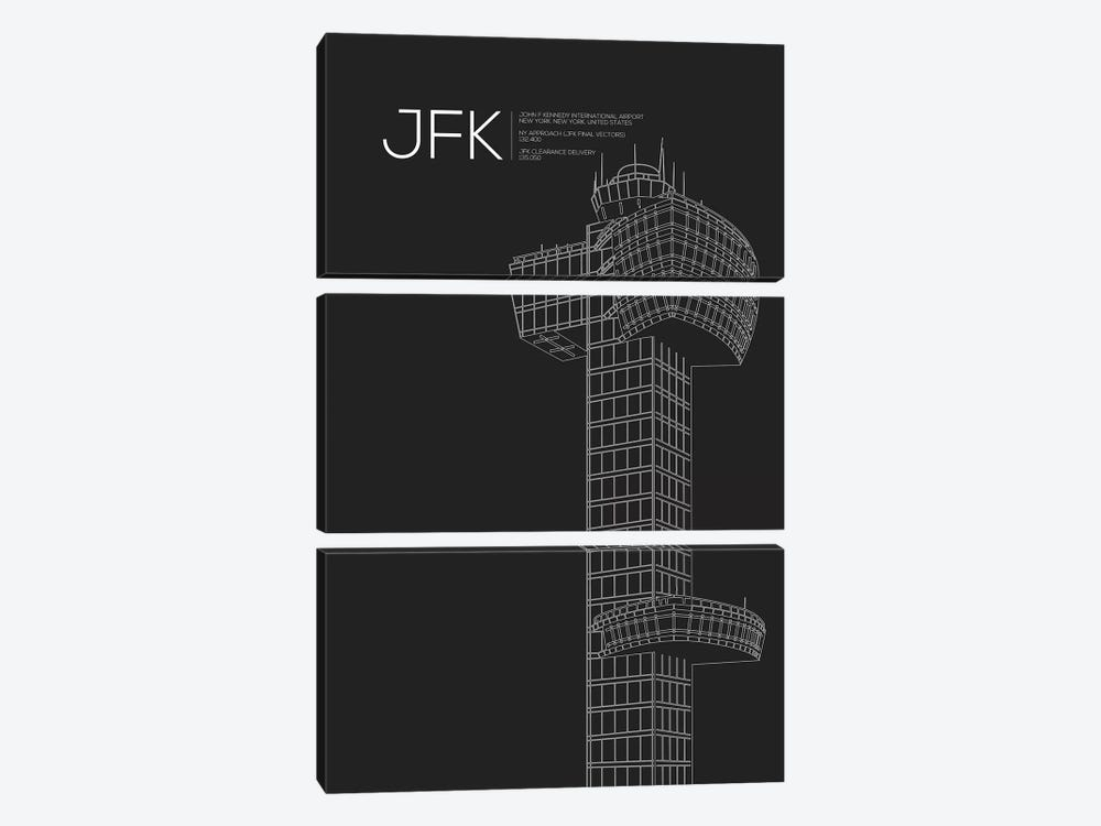 New York (JFK) by 08 Left 3-piece Art Print