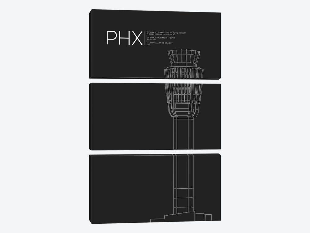 Phoenix Sky Harbor by 08 Left 3-piece Canvas Art Print
