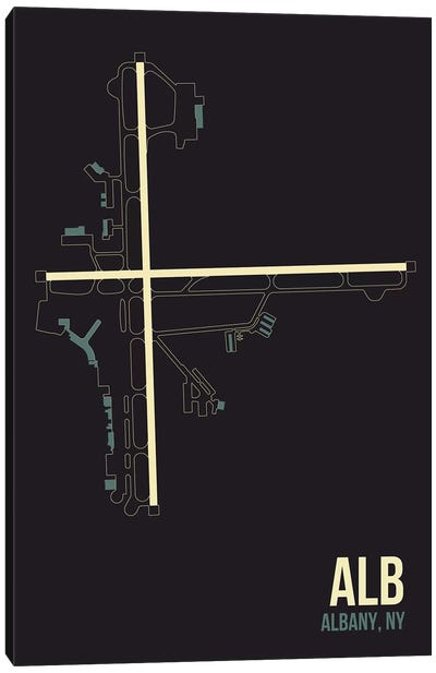 Airport Diagram Series: Albany Canvas Print #OET76
