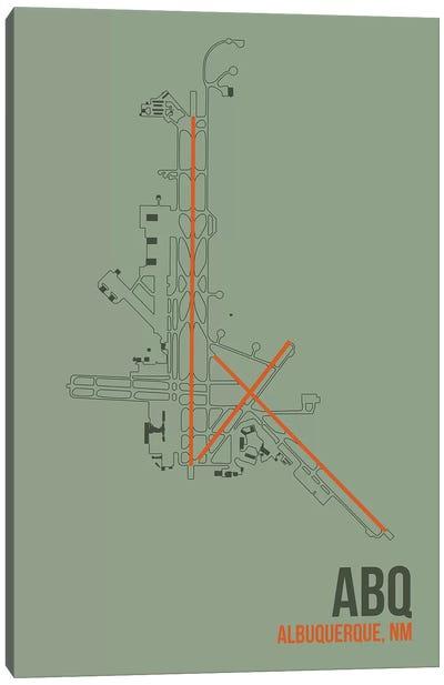 Airport Diagram Series: Albuquerque Canvas Print #OET77