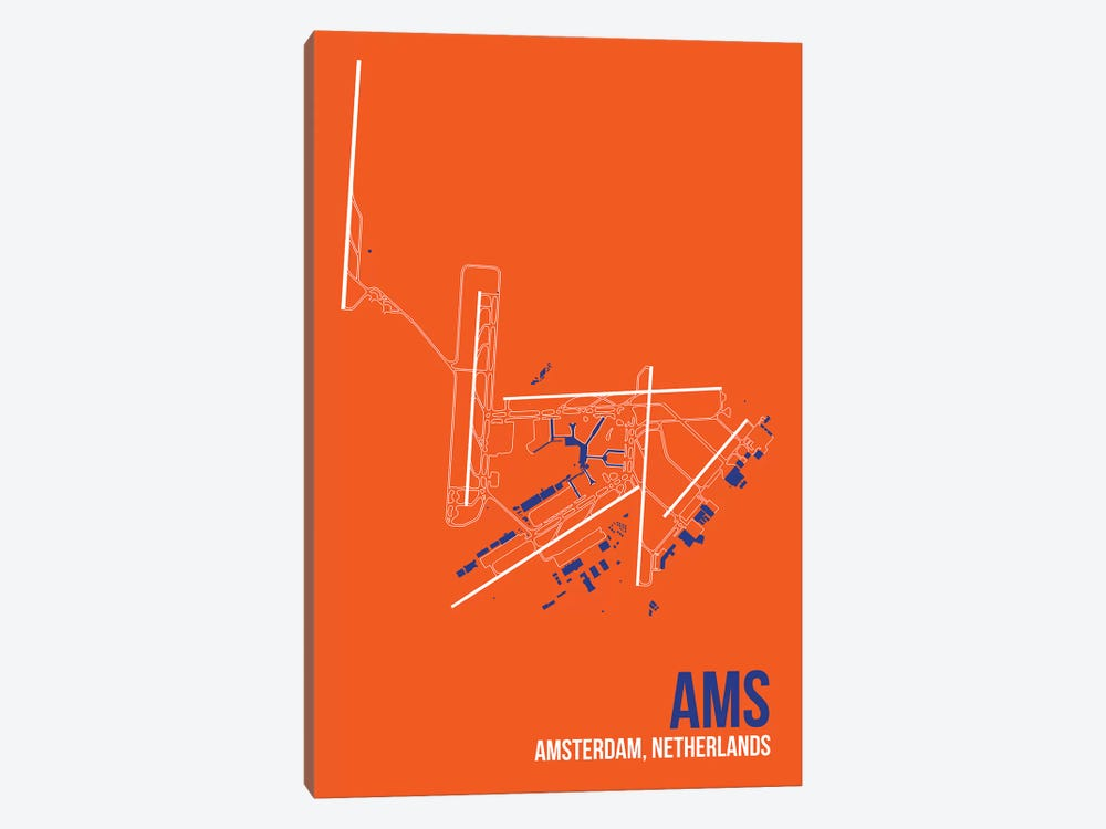 Amsterdam by 08 Left 1-piece Canvas Print