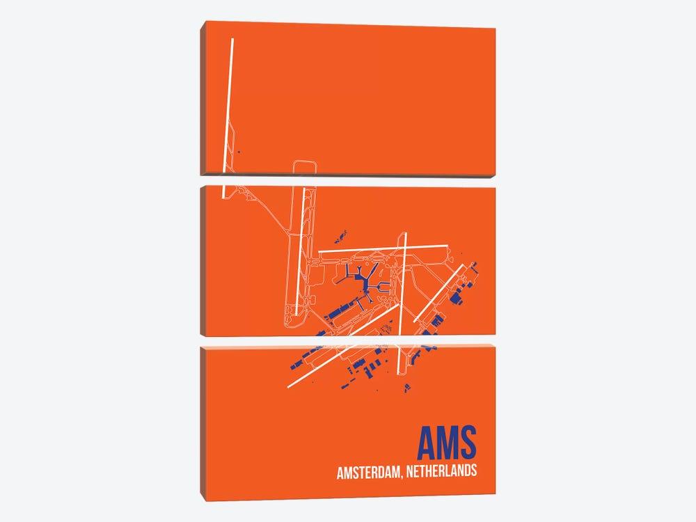 Amsterdam by 08 Left 3-piece Art Print