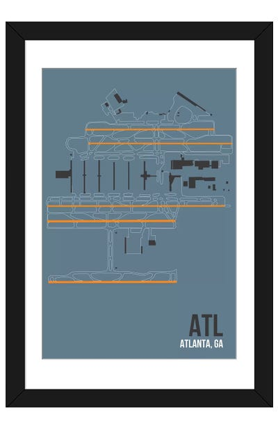 Atlanta (Hartsfield-Jackson) Framed Art Print