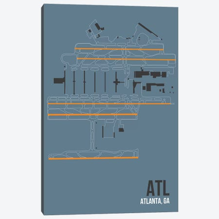 Atlanta (Hartsfield-Jackson) Canvas Print #OET80} by 08 Left Canvas Art