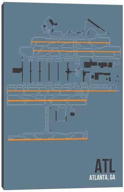 Airport Diagram Series: Atlanta (Hartsfield-Jackson) Canvas Print #OET80